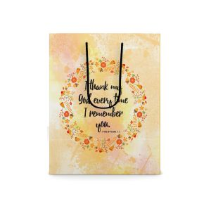 Our Daily Bread Scripture Paper Bag - Philippians 1:3 (Small)