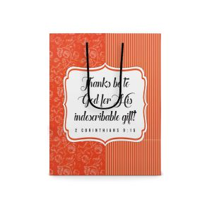 Our Daily Bread Scripture Paper Bag - 2 Corinthians 9:15 (Small)