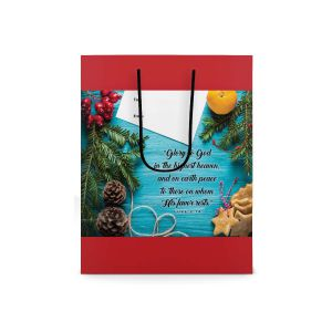 Our Daily Bread Scripture Paper Bag - Luke 2:14 (Small)